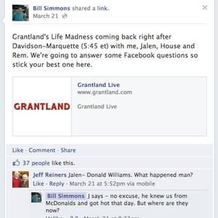 Respostas a comentários em fan pages do Facebook aparecerão com recuo para direita