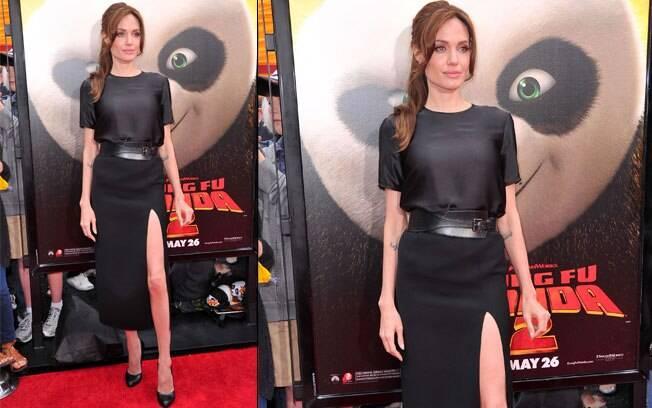 Angelina durante a première de