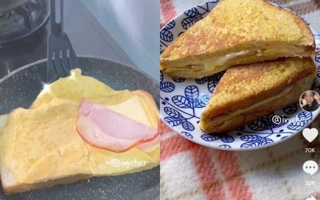 Sanduíche de ovo fica pronto em minutos e é de comer com os olhos
