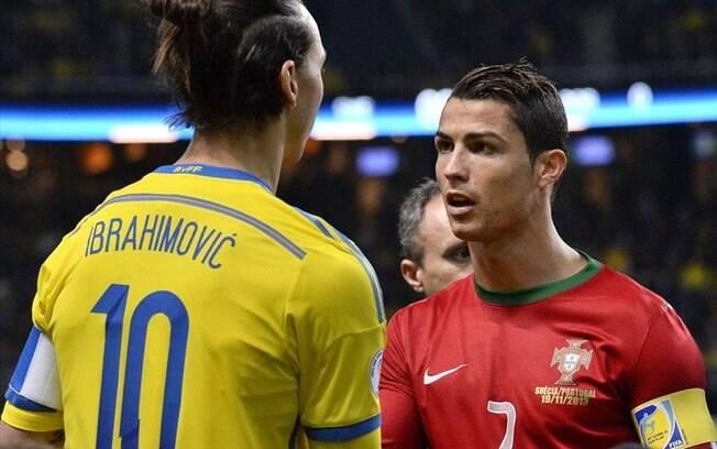 Ibrahimovic e Cristiano Ronaldo em duelo entre Suécia e Portugal