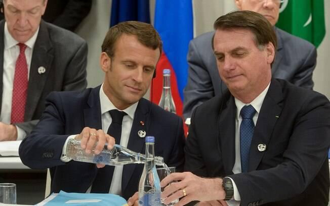 Bolsonaro e Macron
