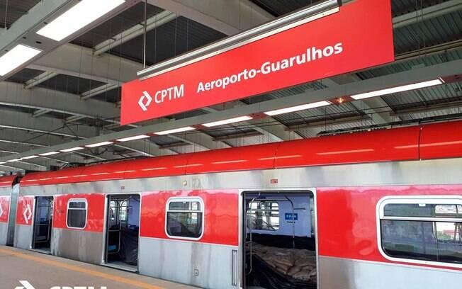 Trens da Linha 13 que vão até a estação Aeroporto de Guarulhos estão circulando diariamente das 10h às 15h