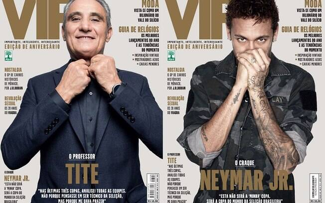 Neymar e Tite estampam a capa dupla da VIP de junho, que está em clima de Copa do Mundo