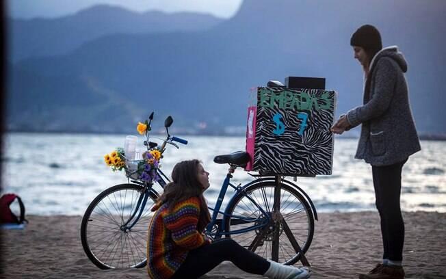 Bike das empadinhas compondo a vibe Vento Festival