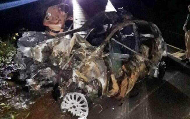 Suspeito de matar a companheira morreu em acidente de carro na sequência
