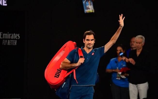 Roger Federer é eliminado do Aberto da Austrália após perder por 3 sets a 1 do grego Tsitsipas