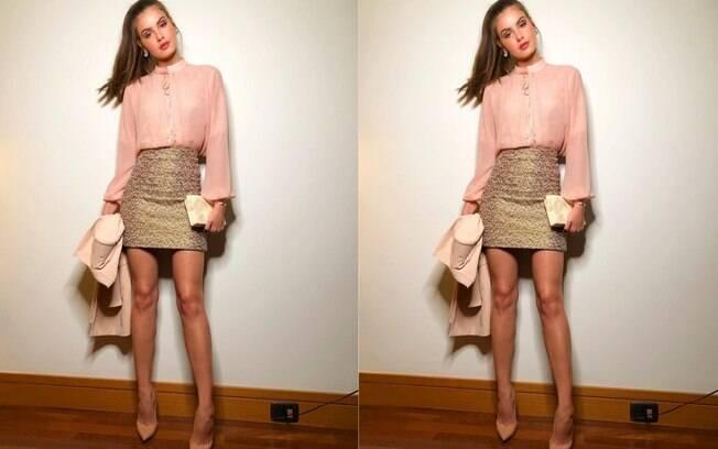 Camila Queiroz é uma das famosas  que apareceram fashion e  arrasaram nos looks durante a semana