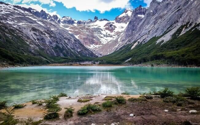 O que fazer em Ushuaia: acessível por uma trilha de quase 10 km, a Laguna Esmeralda faz o esforço valer a pena