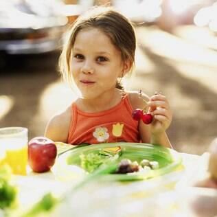 A quantidade de alimento e a proporção de representantes de cada grupo alimentar que devem ir ao prato variam na infância e adolescência