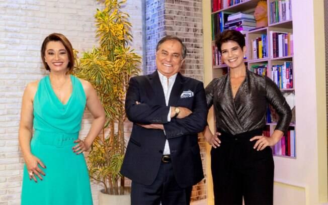 Mariana Godoy recebe Cátia Fonseca e Ronnie Von no programa de estreia do