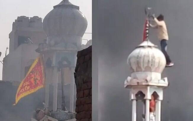 Hindus invadiram Mesquita e depois a incendiaram