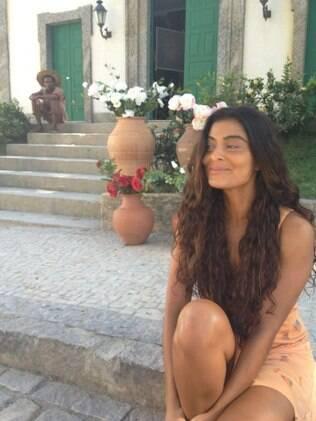 Juliana Paes: pronta para gravar em cima do telhado