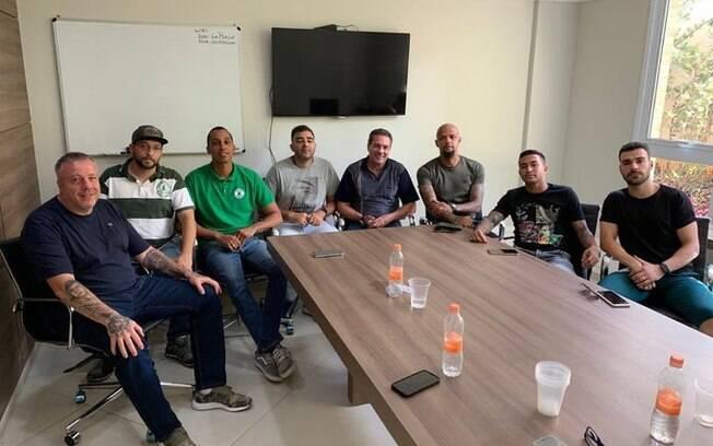 Mancha Verde se reuniu com Luxemburgo e atletas do Palmeiras