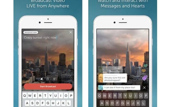 Periscope é um app do Twitter para transmissão de vídeos em tempo real, por enquanto disponível só para iOS