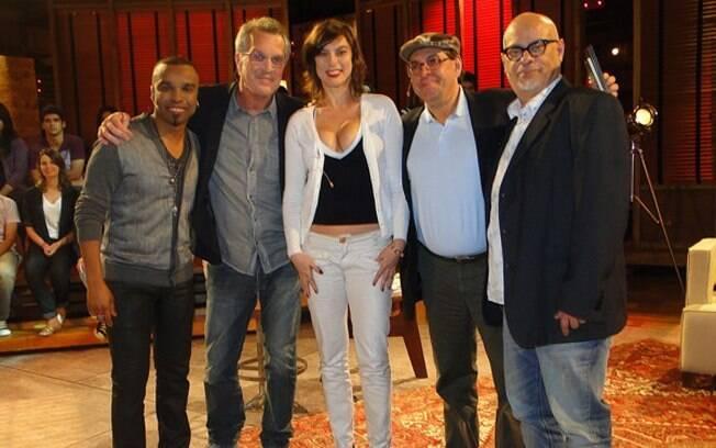 Com Alexandre Pires, Maria Paula, Antônio Carlos Queiroz e Luiz Felipe Pondé no Na Moral