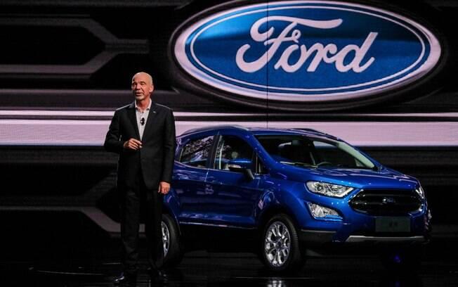 Ford EcoSport que está sendo mostrado no Salão de Xangai será igual ao modelo que vai chegar ao Brasil