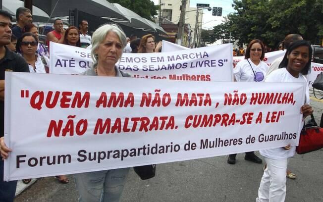 Havia também manifestação pedindo a punição de Mizael