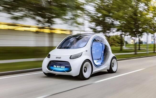 Fortwo Smart Vision EQ anda sozinho, ao dispensar interferência para rodar por aí. Poderá virar realidade em dois anos