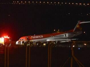 Um avião da companhia Avianca fez um pouso força no Aeroporto Internacional de Juscelino Kubistchek (JK).
