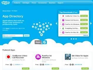 Loja de aplicativos do Skype