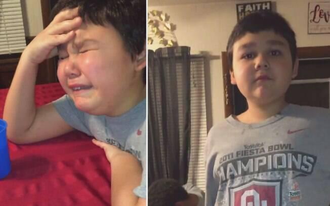 Menino chora ao tomar última dose de quimioterapia e vídeo com momento emocionante viraliza na web; assista