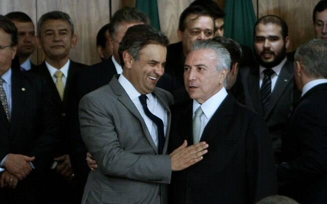 Aécio Neves e Michel Temer, dois personagens das sombras em Excelentíssimos