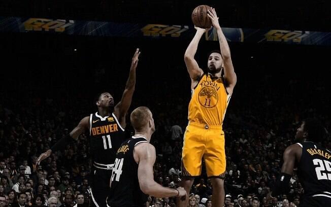 Klay Thompson foi um dos grandes destaques da rodada da NBA desta sexta-feira