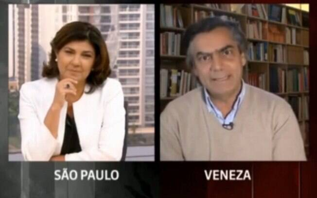 Jornalistas discutem durante programa no Globo News
