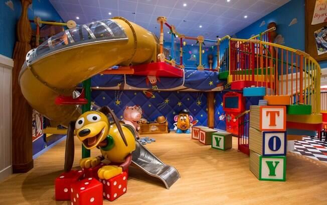 """A Disney Cruise Line conta com muitos espaços de recreação e um deles é inspirado em """"Toy Story"""""""