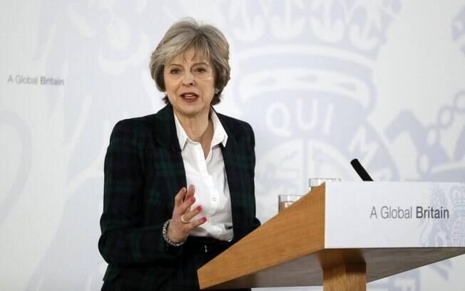 May foi otimista, afirmando que a saída da União Europeia é oportunidade para o país se tornar mais internacional