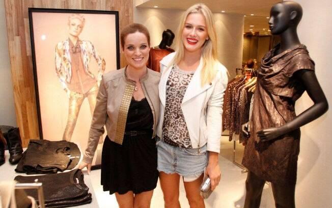 Fiorella Mattheis e Bruna di Tullio participam de inauguração de loja nessa quinta-feira (15)