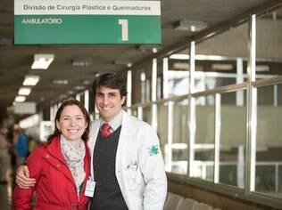 Rachel e Guilherme fizeram cirurgia plástica pioneira no Brasil