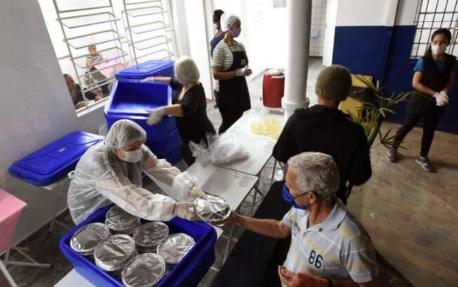 Refeitório da Cidadania de Campinas registra aumento de 23% em refeições