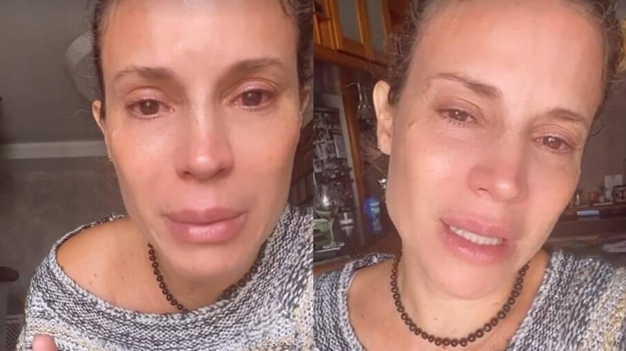 Maíra Charken chora por dificuldades financeiras