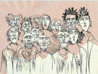 Traços. As ilustrações do mineiro Marcelo Lélis baseiam a composição visual do novo espetáculo