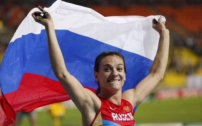 Isinbayeva levou o ouro no salto com vara do  Mundial de Moscou