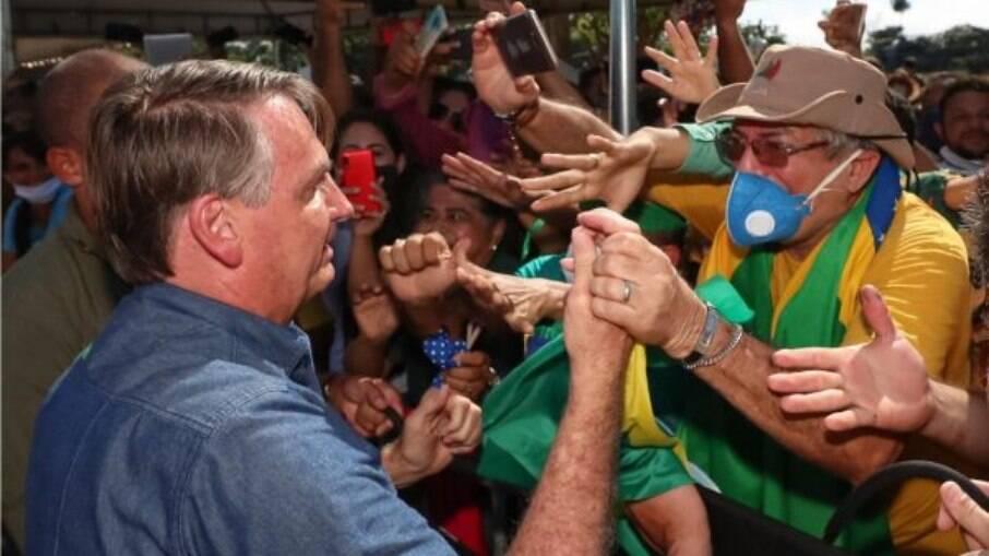 Bolsonaro sem máscara em evento no Maranhão