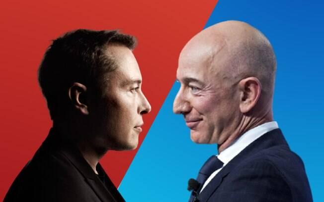 Jeff Bezos × Elon Musk: entenda a eterna disputa entre os homens mais ricos do mundo