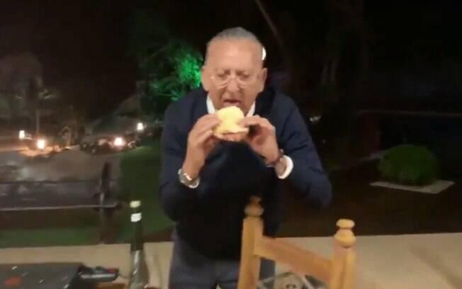 Galvão Bueno sobre seu sanduíche de mortadela: