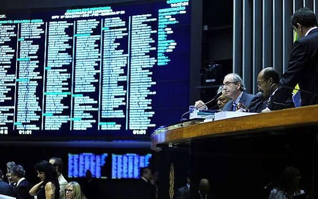 O presidente da Câmara dos Deputados, Eduardo Cunha, durante votação desta quinta-feira