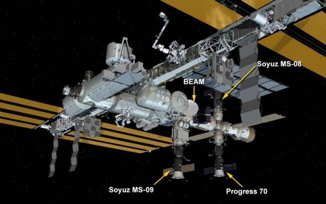 Módulo Rassvet da estação espacial foi atingido por meteorito na quarta-feira; vazamento foi resolvido  por astronautas