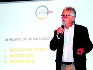 Ciclo. Coordenador do Ciclo MPE.net, Fernando Ricci, em palestra, no ano passado, no Sul de Minas