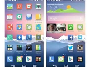 Interface Emotion 2.3 UI, aplicada em cima do Android 4.4.2, é bonita, personalizável e com aplicativos realmente úteis