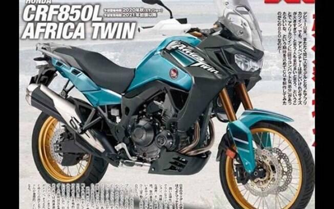 Honda Africa Twin: imagem que vazou no japão mostra o desenho da noa geração da motocicleta aventreira
