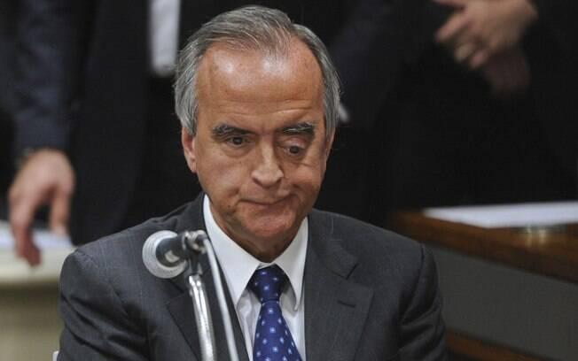 O ex-diretor da área internacional da estatal Nestor Cerveró durante acareação no Senado, nesta terça-feira. Foto: Pedro França/Agência Senado