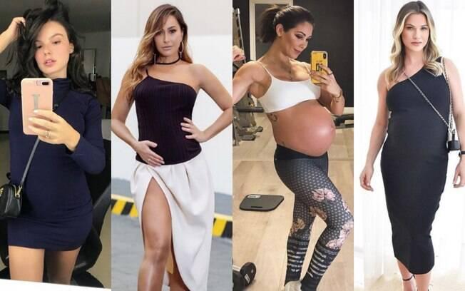 Roupas de grávida também podem ser sexy, justas e reproduzir a personalidade natural da mulher gestante