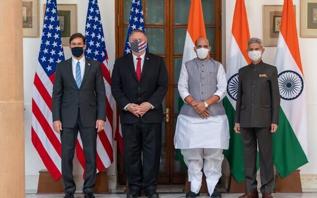 Reunião entre as cúpulas dos governos dos EUA e da Índia.
