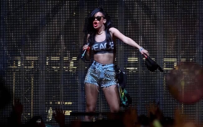 A cantora tamém se apresentou no terceiro dia de festival