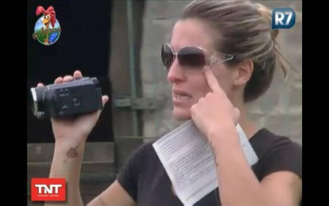 Joana foi a primeira a filmar e não conseguiu segurar as lágrimas