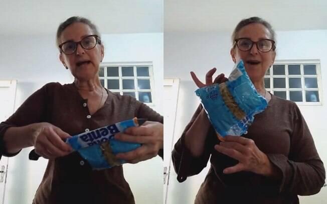 Dona de casa dá dica simples para lacrar embalagens